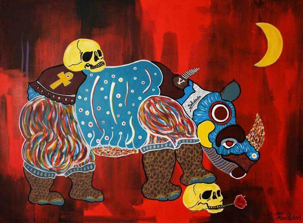 Dalidada - Painting - Thibault Herlédan - Large