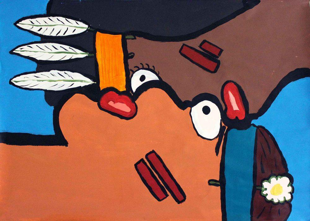 Lovers - Painting - Thibault Herlédan - Large