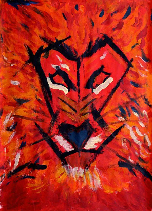 Lion I - Painting - Thibault Herlédan - Large