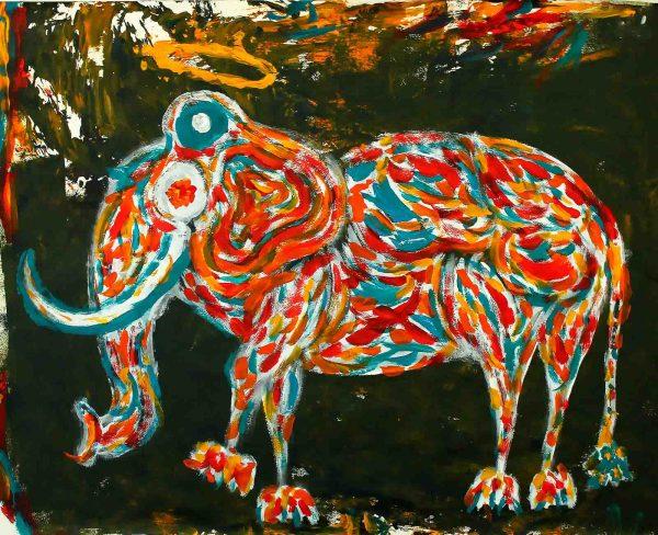 Elephant I - Painting - Thibault Herlédan - Large