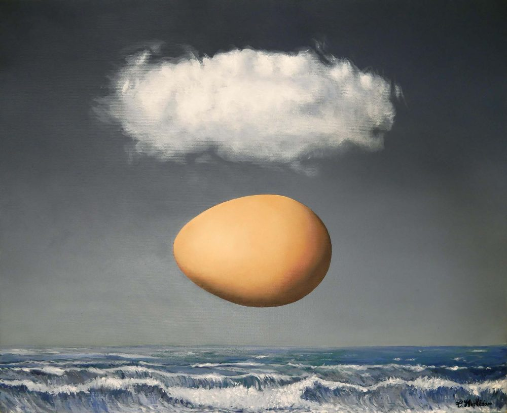 Misapropriation (after Magritte) - Oil painting - Thibault Herlédan